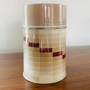 Vintage Thermos Checkered Wide Mouth Soup Mug 10oz
